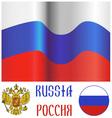 Russian flag and emblem vector image