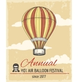 Annual festival of ballooning retro poster vector image