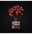 Black Friday sale inscription photorealistic vector image