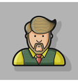 contour icon the man with a beard and a stylish vector image