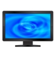 LCD monitor with abstract blue screen vector image