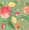 seamless pattern roses beautiful pattern for vector image