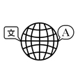 Translate world icon outline style vector image