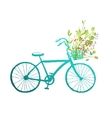 Vintage Summer Bike with Bunch of Flowers Card vector image