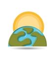 environment globe warming icon graphic vector image