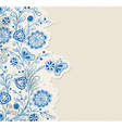 blue hand drawn background vector image