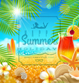 Tropical summer vacation greetings design vector image vector image
