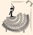 image of dancer flamenco vector image vector image