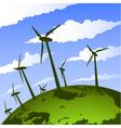 eco wind mills vector image vector image