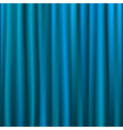 blue curtain vector image vector image