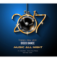 2017 Happy New Year Disco Party Background for vector image vector image