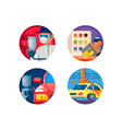auto painting set icons vector image