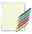 coloful pencils vector image