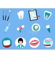 Dental Treatment Design Flat Concept vector image