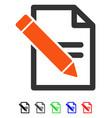 edit records flat icon vector image