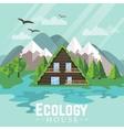 Landscape Green House Ecology vector image