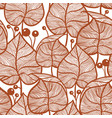leaves pattern seampless red leaf pattern vector image