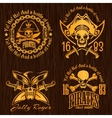Pirate labels set - design for badges logos and t vector image