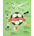 soccer infographic vector image