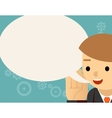 Speaking Businessman and speech bubble vector image