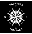 Steering wheel and compass vector image