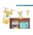 using drone flat vector image