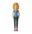 stand up women cartoon vector image vector image