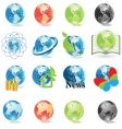 world map icons vector image vector image