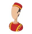 Bellboy cartoon icon vector image