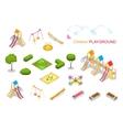 Children playground Flat 3d isometric vector image