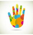 abstract hand vector image vector image