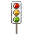Traffic lights with pole vector image vector image