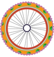 bike wheel silhouette with tyre and spokes vector image vector image