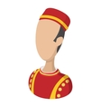 Bellboy cartoon icon vector image