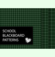 blackboard pattern set squared backgrounds vector image