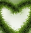 Christmas Background heart shaped wreath vector image