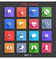 Flat Application Icons Set 7 vector image