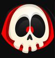 grim reaper cartoon face vector image