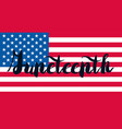 juneteenth banner with flag vector image