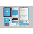 Modern corporate identity template design Flat vector image