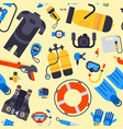 spearfishing scuba diving underwater sea diver vector image