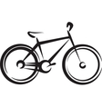 with a bike symbol vector image