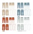 Pants fashion set vector image vector image