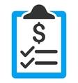 Invoice Pad Flat Icon vector image