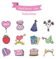 Element valentine collection stock vector image