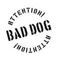 Bad Dog rubber stamp vector image