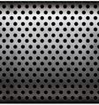 perforated metallic seamless pattern vector image