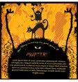 halloween advertisement vector image vector image