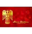 Christmas red background with Angel vector image