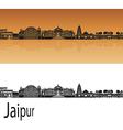 Jaipur skyline in orange vector image vector image